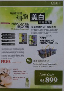 Keratolytic Enzyme Whitening Treatment2